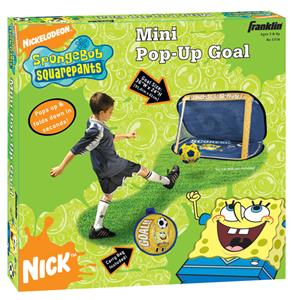 Mini SpongeBob SquarePants Pop-Up Soccer Goal