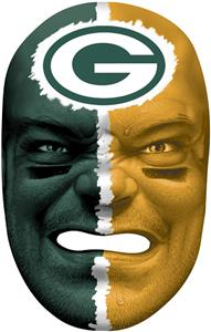 NFL Rubber Fan Face GREEN BAY PACKERS