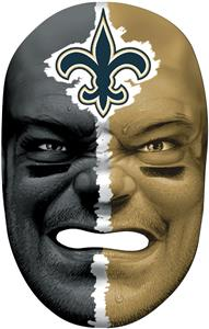 NFL Rubber Fan Face NEW ORLEANS SAINTS