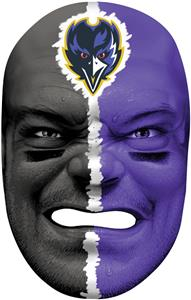 NFL Rubber Fan Face BALTIMORE RAVENS