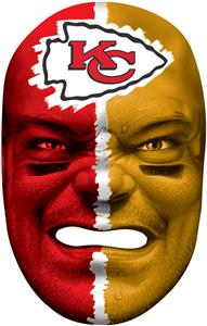 NFL Rubber Fan Face KANSAS CITY CHIEFS