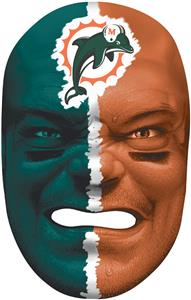 NFL Rubber Fan Face MIAMI DOLPHINS