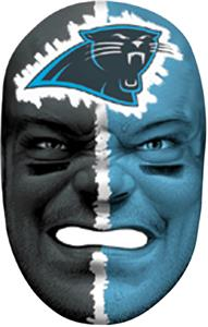 NFL Rubber Fan Face CAROLINA PANTHERS