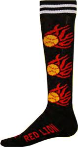 Red Lion Flaming Softballs Athletic Socks