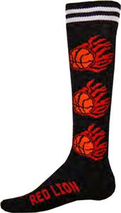 Red Lion Flaming Basketballs Athletic Socks