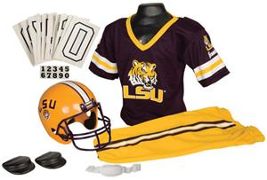 Collegiate Youth Football Team Uniform Set LSU