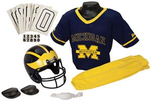 Collegiate Yth Football Team Uniform Set MICHIGAN