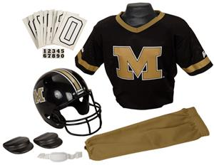 Collegiate Yth Football Team Uniform Set MISSOURI