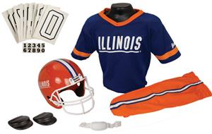 College Youth Football Team Uniform Set ILLINOIS