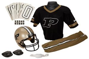Collegiate Youth Football Team Uniform Set PURDUE