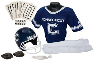 Collegiate Youth Football Team Uniform Set U CONN
