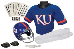 Collegiate Youth Football Team Uniform Set KANSAS