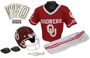 Collegiate Yth Football Team Uniform Set OKLAHOMA