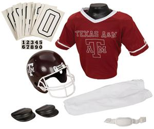 College Youth Football Team Uniform Set TEXAS A&M