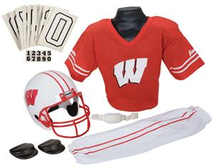 College Youth Football Team Uniform Set WISCONSIN