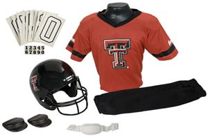 College Yth Football Team Uniform Set TEXAS TECH