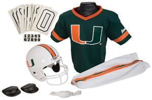 College Youth Football Team Uniform Set MIAMI