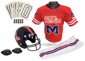 College Youth Football Team Uniform Set OLE&#39; MISS
