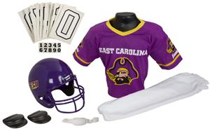 College Yth Football Team Uniform Set E. CAROLINA