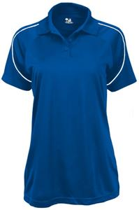 Badger Womens Razor 3 Button Polo Shirts