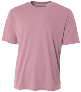 A4 Adult Pink Cooling Performance Crew Shirts