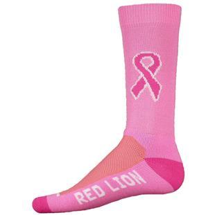 Red Lion Cancer Pink Ribbon Crew Socks