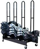 Champion Sports Four Stack Shoulder Pad Rack