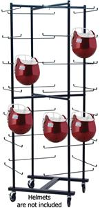 Champion Rolling Football Helmet Rack - Holds 56