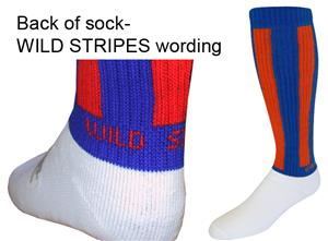 Wild Stripes Athletic Socks - Closeout