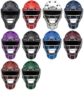 Rubber Matte Hockey Style Baseball Catchers Helmet