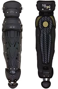 Full Shin Rubber Matte XRD Baseball Leg Guards