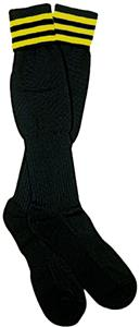 NISOA Italian Referee Gold Striped Socks