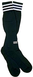 Italian Soccer Referee White OSI Striped Socks