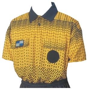 NISOA College Referee Gold Grid SS Shirts