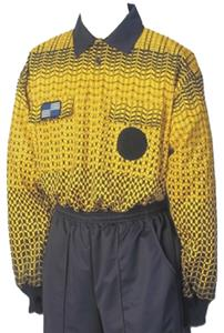 NISOA College Referee Gold Grid Long Sleeve Shirts