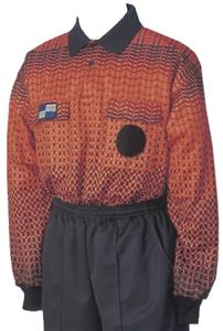 NISOA College Referee Orange Grid LS Shirts