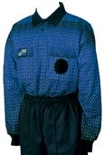 NISOA College Referee Blue Grid LS Shirts