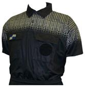 NISOA College Referee Black Grid SS Shirts