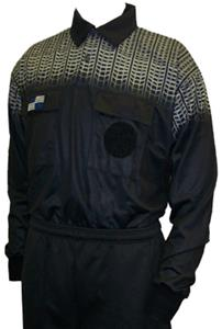 NISOA College Referee Black Grid LS Shirts