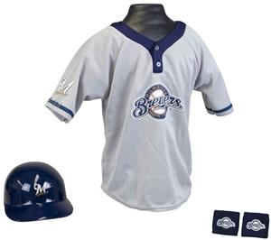 MLB BREWERS Kids Team Baseball Set Uniform