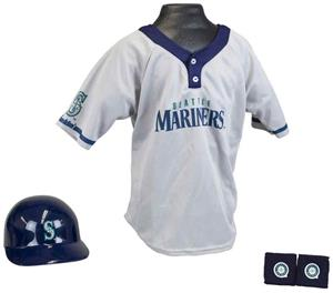 MLB MARINERS Kids Team Baseball Set Uniform