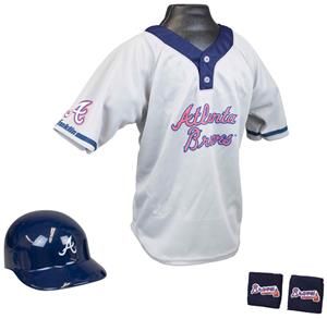 MLB BRAVES Kids Team Baseball Set Uniform