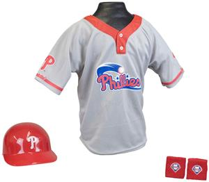 MLB PHILLIES Kids Team Baseball Set Uniform