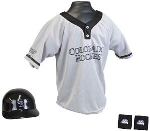 MLB ROCKIES Kids Team Baseball Set Uniform