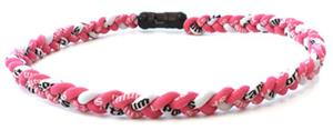 D-Bat Titanium Necklaces-Pink/White