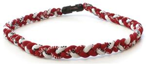 D-Bat Titanium Necklaces-Maroon/White