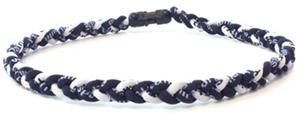 D-Bat Titanium Necklaces-Navy/White