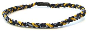 D-Bat Titanium Necklaces-Navy/Yellow