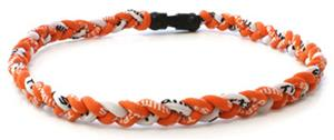 D-Bat Titanium Necklaces-Orange/White