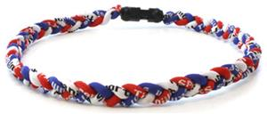 D-Bat Titanium Necklaces-Red, White & Blue